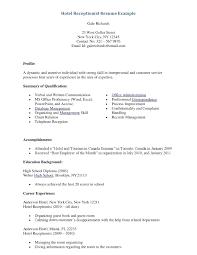 Resume Format For Hotel Job resume Hotel Job Resume 21