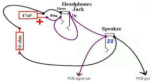 ruby headphone wiring with dpdt switch, using one jack headphone wire color code at Wiring Diagram For Headphones
