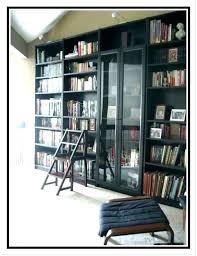 bookshelf sliding glass doors door bookcase bookshelves with white do