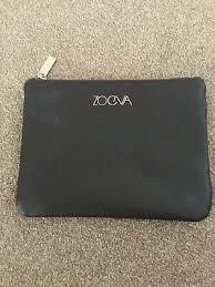 zoeva brown faux leather makeup bag