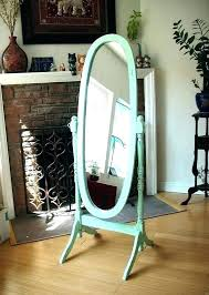 standing mirrors with storage standing mirror in bedroom hand painted mint green oval full by more standing mirrors