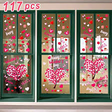 Valentines office decorations Outside Ivenf Valentines Day Decorations Heart Window Clings Decor Kids School Home Office Large Valentines Hearts Amazoncom Amazoncom Ivenf Valentines Day Decorations Heart Window Clings