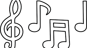 musical note coloring sheet modest printable musical notes coloring pages flowers music note