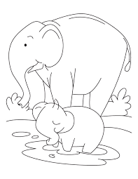 Small Picture Elephant and Baby Elephant coloring pages Download Free Elephant