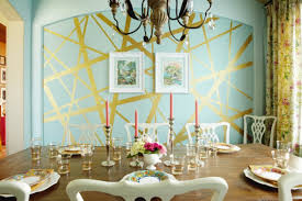 interesting home interior wall design with metallic wall paint ideas gorgeous dining room decoration ideas
