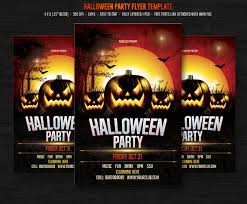 halloween template flyer halloween party flyer templates creative market