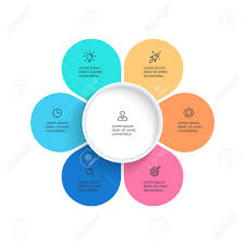 6 Piece Pie Chart Template Vector Pie Chart Presentation Template With 6 Steps Options
