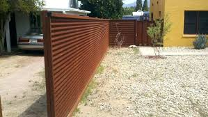 corrugated metal fence how to build