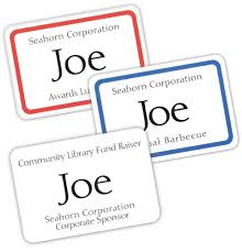 Print Name Amazon Com Avery Print Or Write Name Badge Labels With Red Border