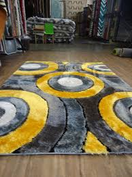 shaggy vibrant gray  yellow handtufted area rug  rug addiction