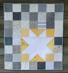 Color Trends: Gray and Yellow Quilts - Craftfoxes & Grey and Yellow Star Baby Quilt - Free Quilting Pattern Adamdwight.com