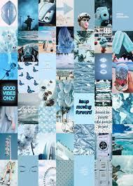 Ocean Blues Wall Collage Kit (Digital ...