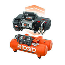 ridgid tri stack 5 gal portable electric steel orange air portable electric steel orange air compressor