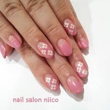 ホロ ネイル ピンク