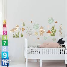 acquista fairy forest wall decal sticker home decor fai da te rimovibile art vinyl murale dei bambini scuola materna soggiorno qtm293 a