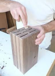 sand-the-interior diy knife block