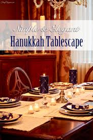 simple elegant hanukkah tablescape frugelegance