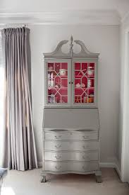 grey painted antique secretary desk with pink interior wish i could take the