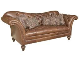 Alicia Leather Sofa by Hickory Manor