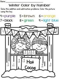 Kids will get some great addition practice as they complete the ...Your students will love practicing addition and subtraction facts with these fun winter theme color by