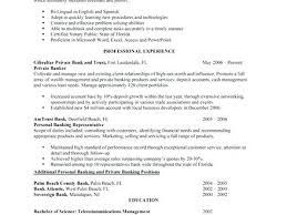 Private Banker Resume Sample Personal Banker Resume Examples And