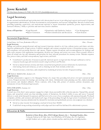 7 Legal Secretary Resume Mla Cover Page