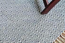 diamond pattern area rug blue hand woven 4 x 6 navy white