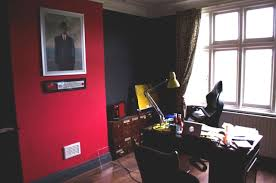 red home office. Work From Home Wisdom Offices - Greg Dillon After Red Office