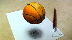 Basketball Drawing Pictures How To Draw Basketball Drawing 3d Floating Ball Vamos Youtube