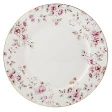 Floral Plate Design Ditsy Floral White Dinner Plate