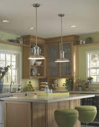 kitchen island with 2 pendant lights