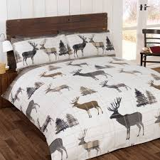 rapport home stag brushed cotton duvet cover set in natural from duvet setsduvet