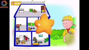 caillou build doll house for rosie pbs game for kids