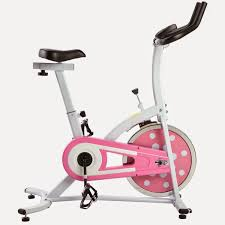sunny health fitness pink indoor cycling bike spin bike