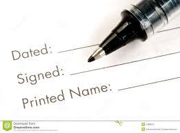 Print Name Print And Sign The Name Stock Image Image Of Agreement 14888227