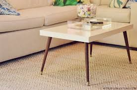 how to make a modern coffee table how to make your ikea furniture look vintage homeli