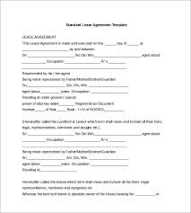Standard Rental Agreement Template 17 Lease Template Doc Pdf Free Premium Templates