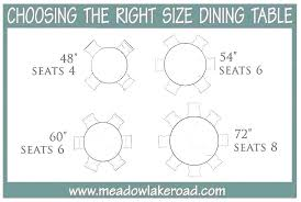 round dining table for 8 measurements 6 person size sizes and seating capacity metric kitchen pretty