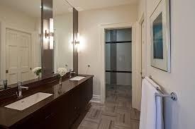 contemporary bathroom vanity lighting. Vanity Lighting Ideas Bathroom Contemporary With Mirror Beige Trim. Image By: EANF M
