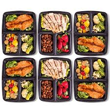 Amazon.com: Pakkon 3 Compartment Bento Box with Airtight Lid, 10 Pack: Kitchen \u0026 Dining