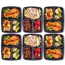 Amazon.com: Pakkon 3 Compartment Bento Box with Airtight Lid, 10 Pack: Kitchen \u0026 Dining