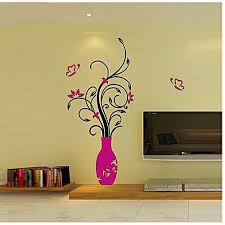 generic elegant home decoration diy 3d acrylic crystal wall stickers living room bedroom tv background home hot pink