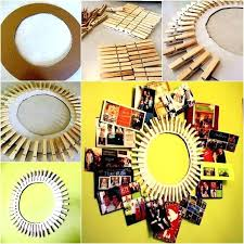 clothespin wreath picture frame homemade photo frames ideas how to make homemade picture frame ideas