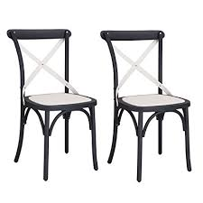 vintage style chairs. Brilliant Vintage Adeco EconFriendly Nylon VintageStyle Dining Chair Curved Leg Cross Back  Set Inside Vintage Style Chairs N