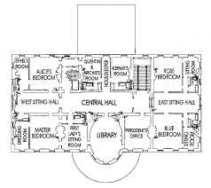 second floor plan of the white house