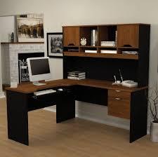 L Shaped Modern Desk Furniture L Shaped Black Computer Desk With Hutch For Modern