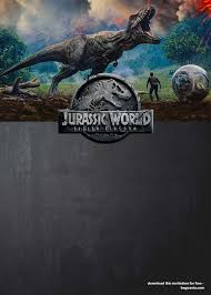 Jurassic Park Invitations Jurassic World Fallen Kingdom Birthday Party Ideas Free
