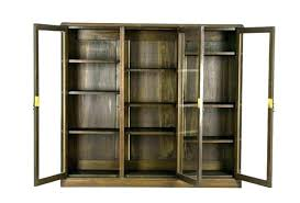bookcases antique glass door bookcase bookcases library with doors bookshelf three oak cabinet bookcas