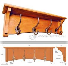 Coat Rack Plans Woodworking Projects Coat Rack Plans Furniture Plans and Projects WoodArchivist 2