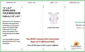 4 Panel Brochure Template 4 Panel Brochure Template Roll Fold Download Postcard Design
